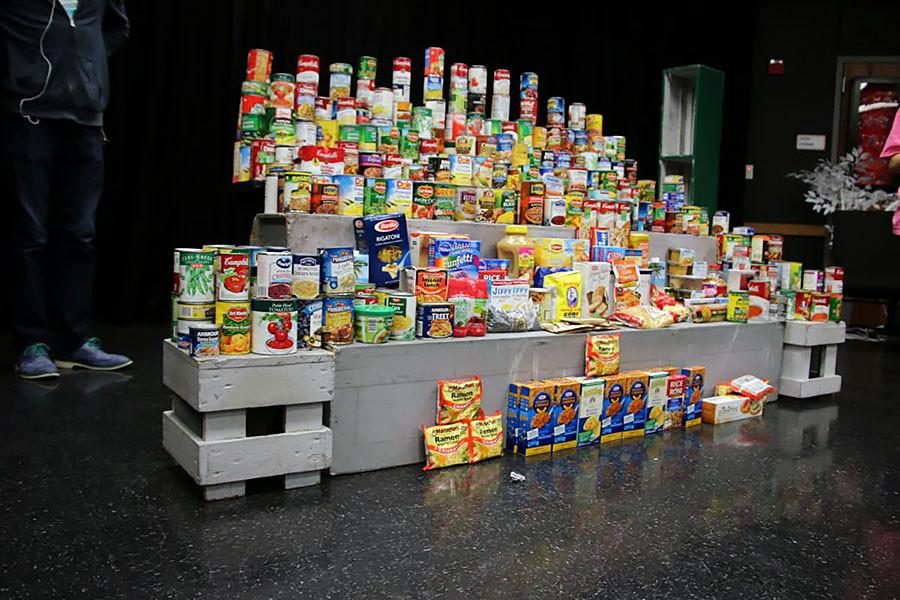 All+of+the+cans+and+non-perishable+items+theatre+raised.+The+collection+only+took+four+days+with+nearly+an+hour+of+work+per+day.+