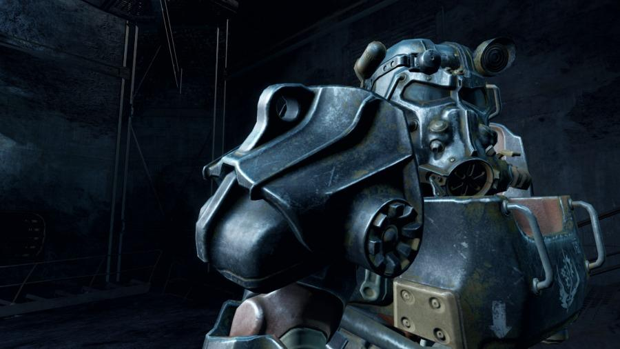 The power armor featured in the game. Fallout 4 now offers ways to add mods, and different paints to the armor.