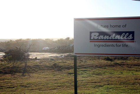 The sign designated the new area for the Randalls to be built. It will be at the intersection of Lakeline and Crystal Falls.