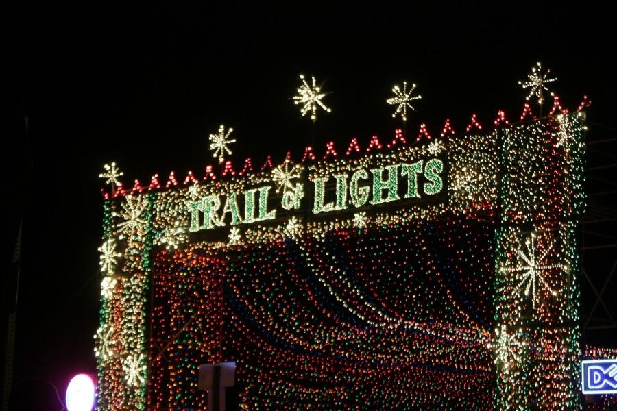 One of the signs decorated with lights as far as the eye can see. You can purchase tickets for $3 a person.