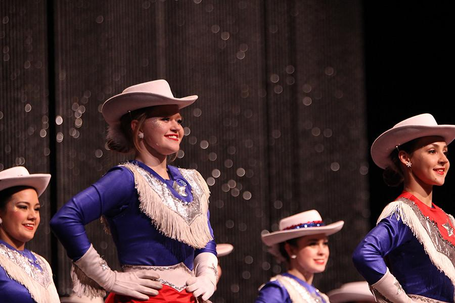 Senior Chelsea Robinson in the final performance at the show.
