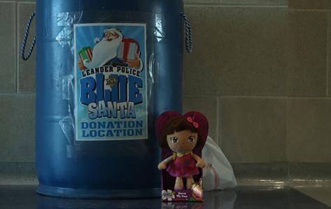 Blue Santa helps kids in need