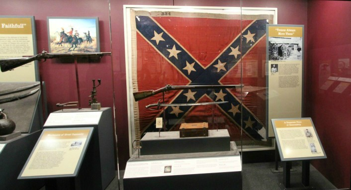 A Civil War exhibit at a museum in Texas. This era has been center stage of a few controversies as of late, such as this one.