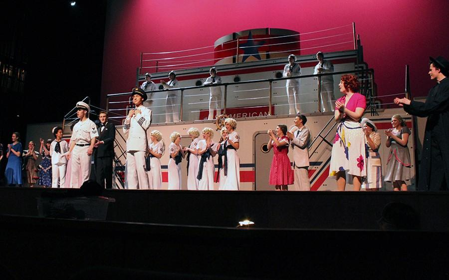 The full ensemble of Anything Goes. There were three scenes with the full ensemble in the show, Bon Voyage, Anything Goes and the Wedding March.