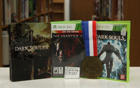 A few of the winners of the list. From left to right they are: Dark Souls 2, Metal Gear Solid V, Alvin and the Chipmunks: The Roadchip, State marching contest, and Dark Souls the first.