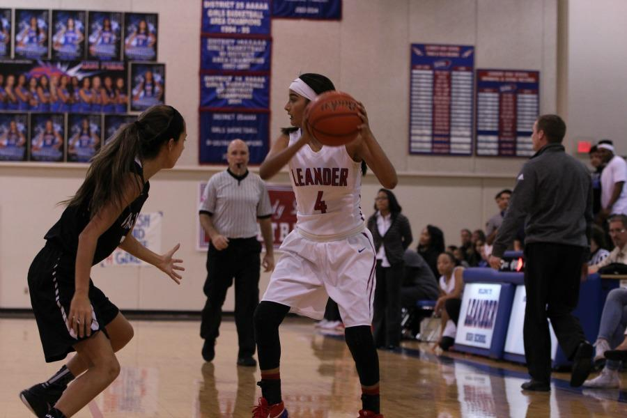 Izaila Martinez plays against Vandegrift. She scores 6 points in the game.