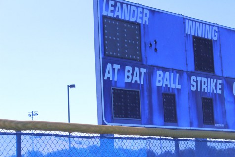 The old baseball scoreboard before it was taken down. The old scoreboard had been in use for around 12-15 years.