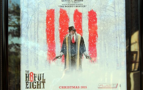 Movie poster for The Hateful Eight. Samuel L. Jackson stars or appears in nearly every Quentin Tarantino film.