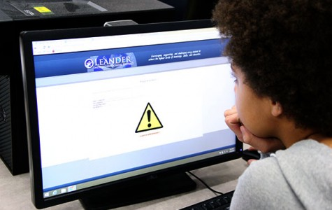 A student attempts to visit a blocked site. The school's blocks can break a student's concentration.
