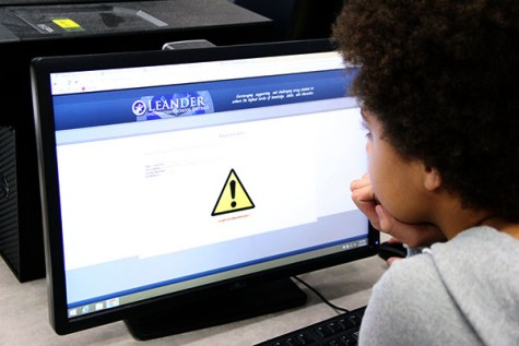 A student attempts to visit a blocked site. The school