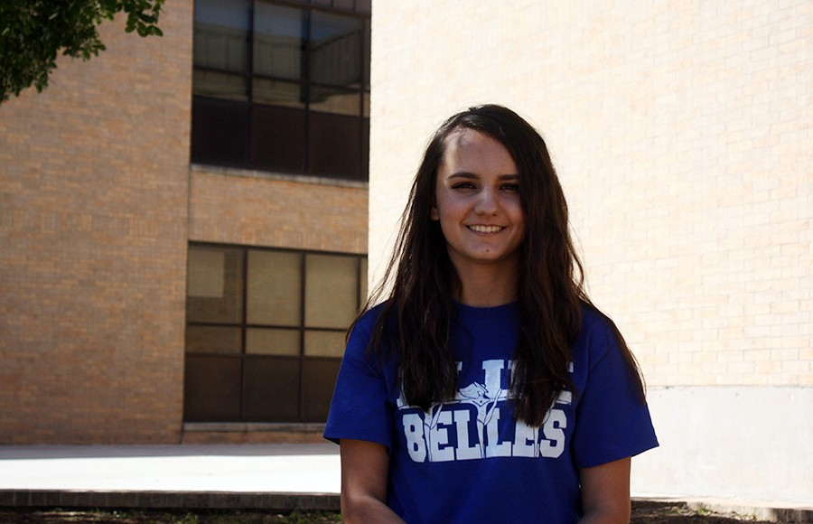 Sophomore Ilina Bozhkova is 2016's Sophomore of the Year winner. She is also on the Blue Belle dance team.