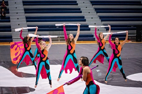 "The JV Winter Guard performs to their show ""Matisse in Motion"". They won fourth in this performance."