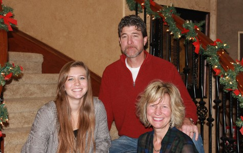 Mrs. Flesner (bottom right) with her husband Jerry and daughter Madison. Madison is currently a senior at Leander.