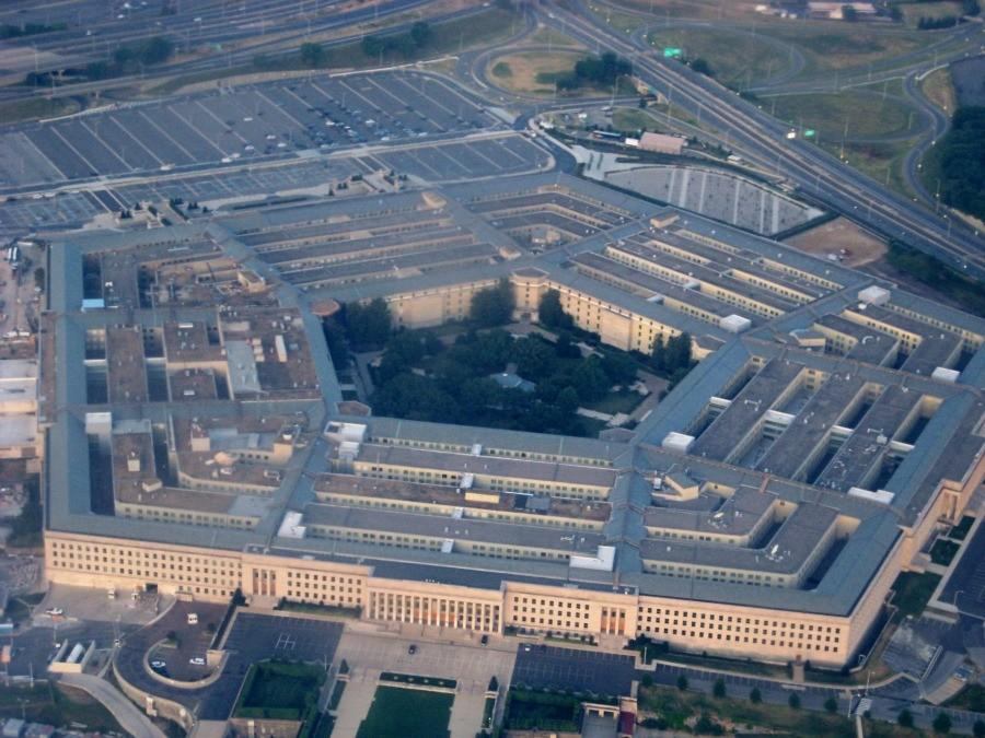 A birds eye view of the pentagon.  Approved hackers have been tasked with testing the Defense Departments' cyber security.