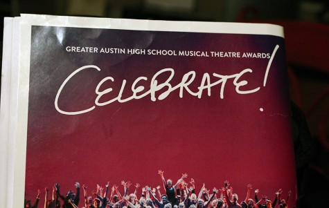 Ad for GAHSMTA on the back of the Anything Goes program. This is the third year of the award show.