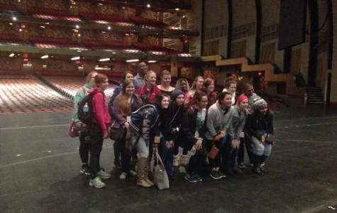 The choir got to tour Radio City Music Hall and stand on the stage. At it's most the hall has over 6,000 seats.