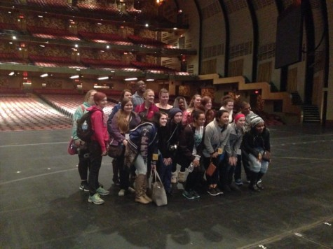 The choir got to tour Radio City Music Hall and stand on the stage. At it