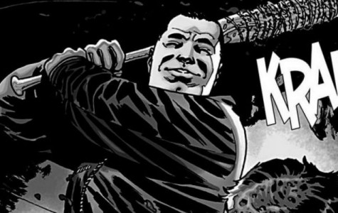 Negan's most memorable moment in the comics. This was at the point in the comics when a big character was batted.