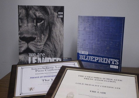 This is last years and this years yearbooks. Both awards are from last year.