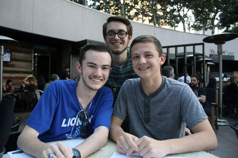 The editors of the newspaper (L-R): senior Jack Densmore, junior Austin Graham and sophomore Kyle Gehman.