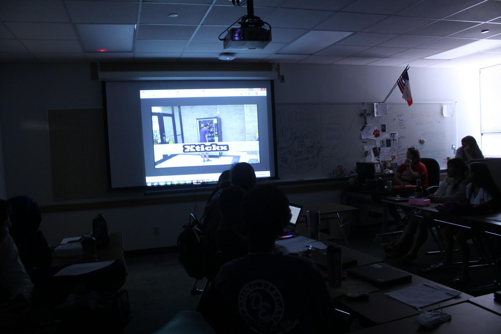 Many teachers incorporate videos and movies into their lesson plans. Professional Communications teacher Gigi Heermans has had her students film commercials recently to learn about persuasive speeches