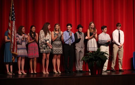 The Top 10 seniors who were ranked on their GPAs.