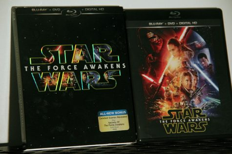 Movie case and sleeve for the new film The Force Awakens. This was one of the highest grossing films of all times and very anticipated by fans.