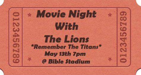 The football team will be hosting the movie to raise goods for the Food Pantry. Entry is with a canned good or more.