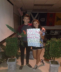 Amanda Castillo and Carter Wiseman. They are excitedly waiting for homecoming!