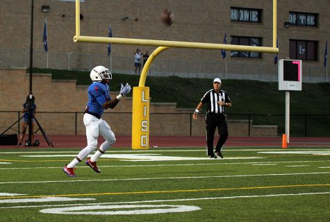 Tay Brown makes a kick off return during the varsity game against Killeen.