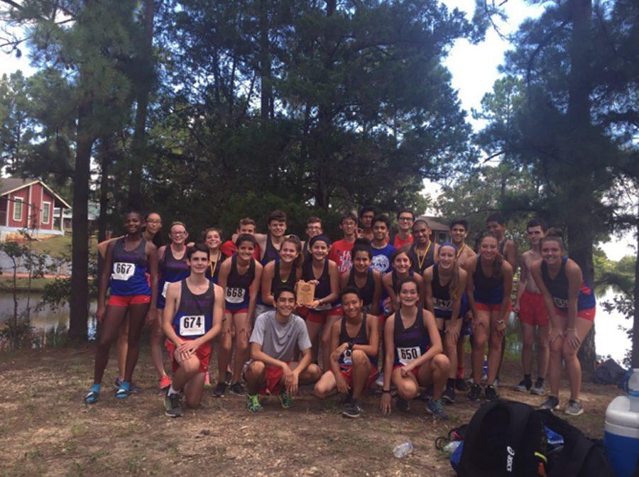 Cross+country+boys+and+girls+teams+at+the+Giddings+meet.+Leanders+Cross+country+team+placed+overall+second+and+eighth+for+the+girls+and+boys+team.