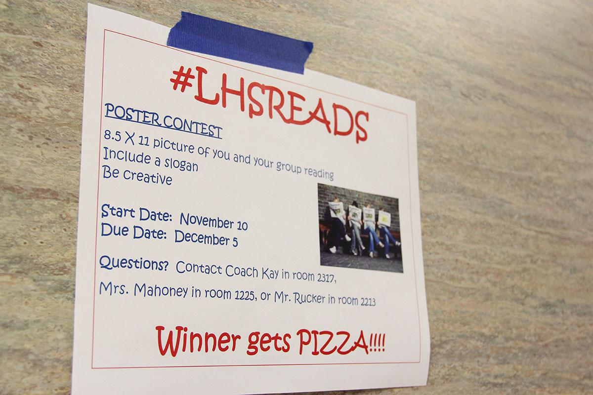 The winner of the poster contest gets pizza. This is the first year of LHSreads.
