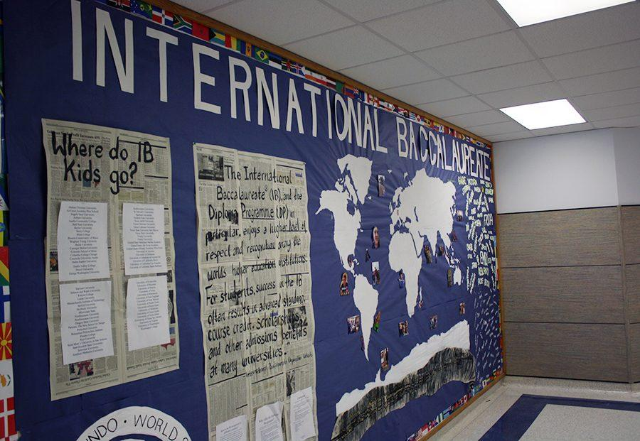 The+IB+wall+outside+of+the+nurse%E2%80%99s+office+covered+with+information.+It+has+the+names+of+the+current+seniors+in+IB+and+where+previous+candidates+have+gone+to+college.
