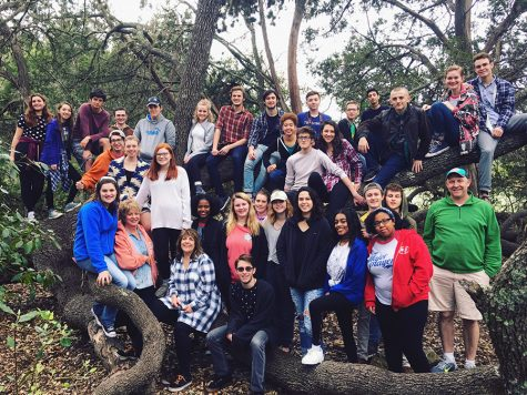 Before competition, the One Act cast and crew prepared by going on their annual retreat,