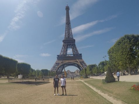Juniors Bryce Carson and Kyce Wilson visited Paris, London, Barcelona and Amsterdam during their trip.