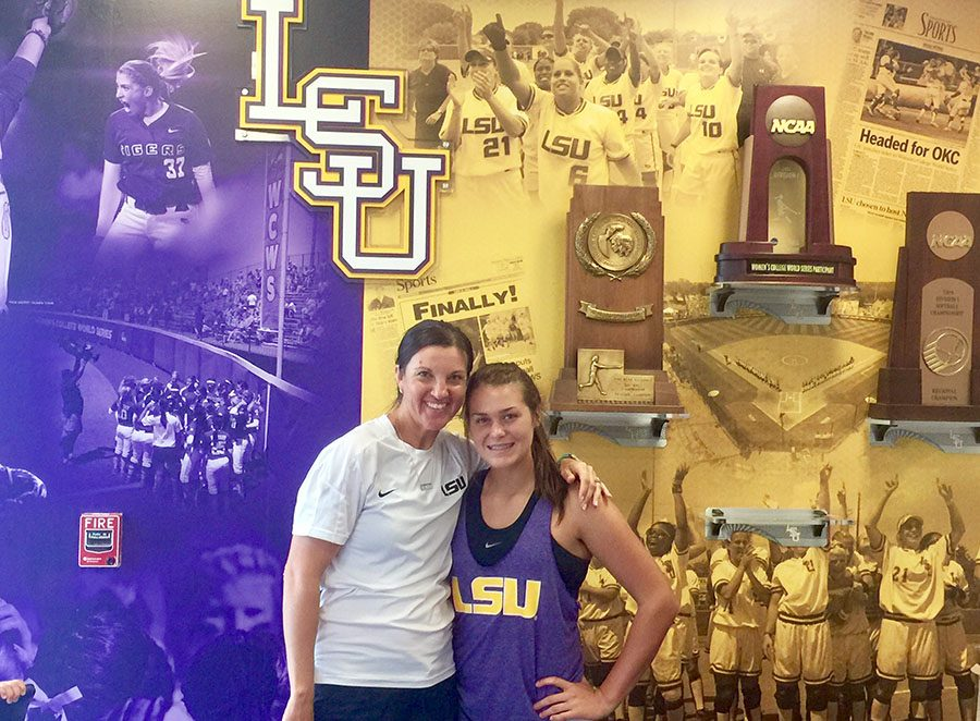 This+past+summer+freshman+Baylea+Brandon+committed+to+LSU+to+play+D1+Softball.+She+has+been+playing+softball+since+she+was+six.