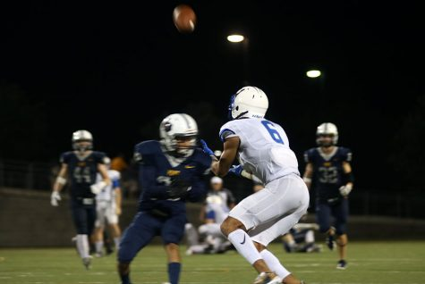 Senior Dalton Flowers catches the ball against Stony Point. Against Vista Flowers scored another touchdown.