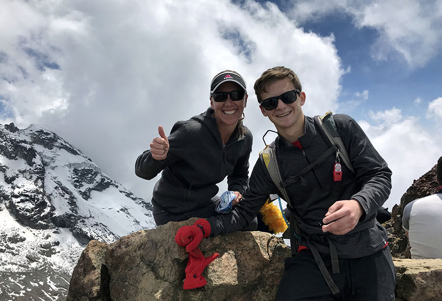 Here is my aunt and I at the top of Illiniza Norte. It was a beautiful eight hour climb but very scary at times as several people have died trying to summit.