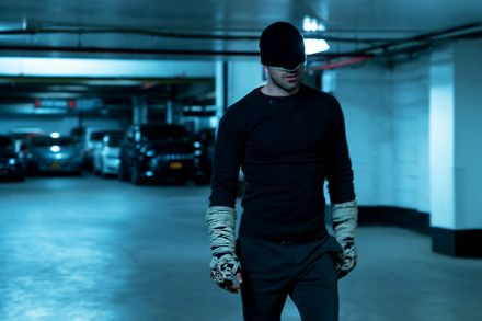 Daredevil (Charlie Cox) in his old costume