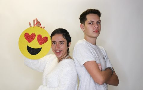 Seniors Emily Ethridge and Veli Rumenov take their stances on Valentine's day.