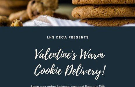 Valentine's day cookie delivery