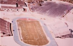 The original Lion Stadium after being moved from Odessa to Leander.